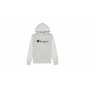 Champion Script Logo Jacquard Piqué Reverse Weave Hoodie šedé 214024-EM004
