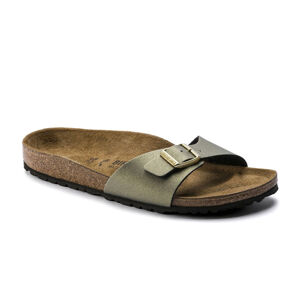 Birkenstock Madrid BS Narrow Icy Metallic Stone Gold žluté 1014294