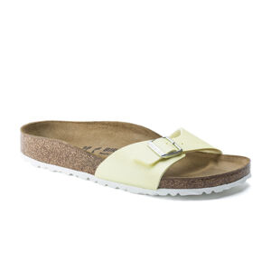 Birkenstock Madrid BS Narrow Icy Metallic Sulfur žluté 1016025