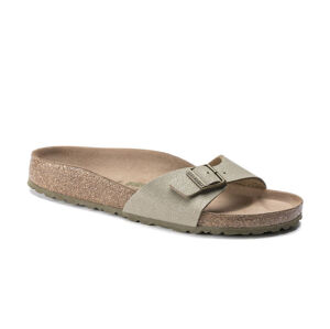 Birkenstock Madrid BS Vegan Faded Khaki Regular Fit  hnědé 1018477