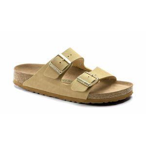 Birkenstock Arizona BFBC Earthy Vegan Latte Cream Regular Fit hnědé 1019037