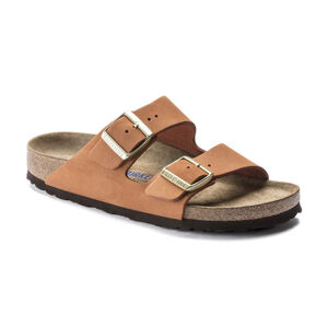 Birkenstock Arizona SFB Nubuck Pecan Narrow Fit hnědé 1019042