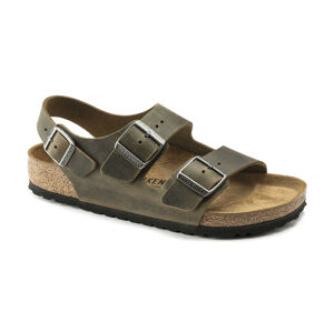 Birkenstock Milano BS Fhaded Khaki Narrow Fit hnědé 1019454