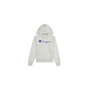 Champion Script Logo Reverse Weave Hoodie W šedé 111555-EM004