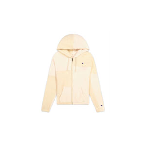Champion Patchwork Velour Fleece ZIP-UP Hoodie bílé 113506-F20-YS094