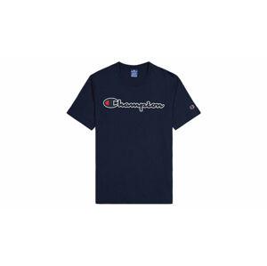 Champion Script Logo T-Shirt modré 214194_S20_BS538