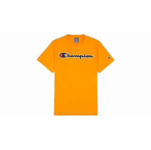 Champion Script Logo T-Shirt oranžové 214194_S20_OS026