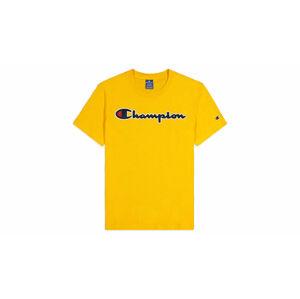Champion Script Logo T-Shirt žluté 214194_S20_YS022