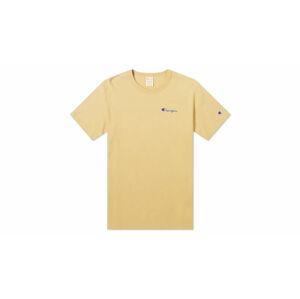 Champion Premium Crewneck T-shirt žluté 214279_S20_YS067