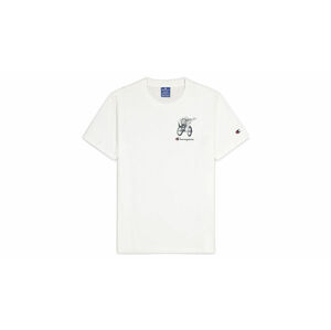 Champion Street Sports Graphic T-Shirt bílé 214346_S20_WW001