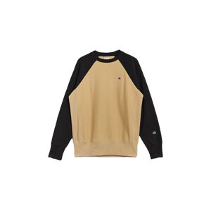 Champion Colour Block Reverse Sweatshirt hnědé 214918_F20_MS057