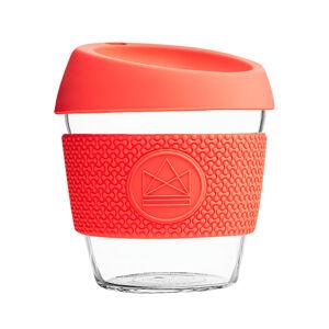 Skleněný hrnek na kávu, S, 230 ml, Neon Kactus, korálový