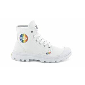 Palladium Boots Pampa Pride White/Rainbow bílé 76521-132-M