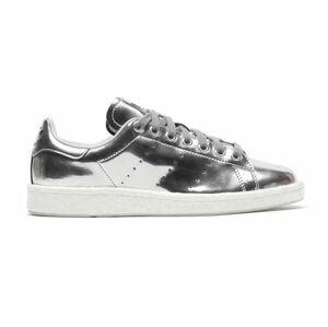 adidas Stan Smith boost Silver Metalic šedé BB0108