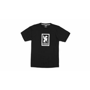 Chrome Industries Vertical Border Logo Tee černé AP-460-BKWT-NA