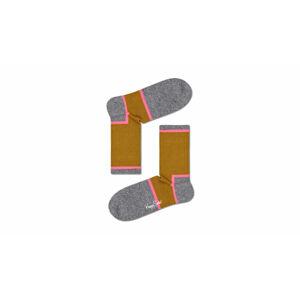 Happy Socks Graphic 3/4 Crew Sock černé ATGRA14-7300