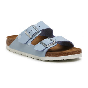 Birkenstock Arizona BF Patent Dove Blue Regular Fit šedé 1019433