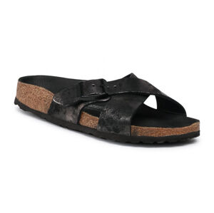 Birkenstock Siena VL Vintage Metallic Black Regular Fit černé 1019409