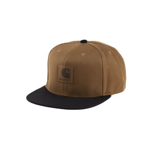 Carhartt WIP Logo Cap Bi-Colored Hamilton Brown hnědé I025735_HZ_00