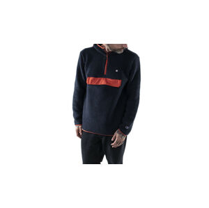Champion Hooded Half Zip Top modré 215115_F20_BS501
