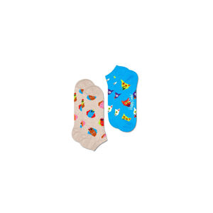 Happy Socks 2-Pack Dog and Cat Low Sock Multicolor DAC02-1700