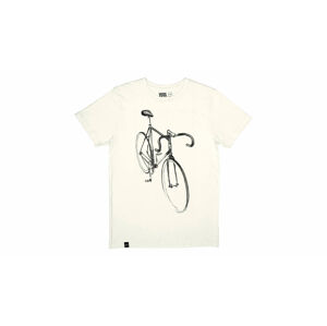 Dedicated T-shirt Stockholm Drawn Bike Off-White bílé 16090