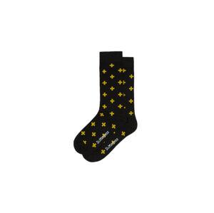 Dr. Martens cross logo sock černé DMAC623017