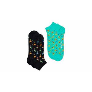 Happy Socks 2-Pack Flamingo Low Sock černé FMN02-9300