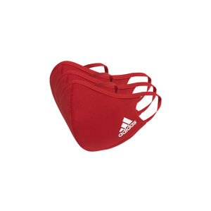 adidas Face Covers M/L 3-pack červené H52419