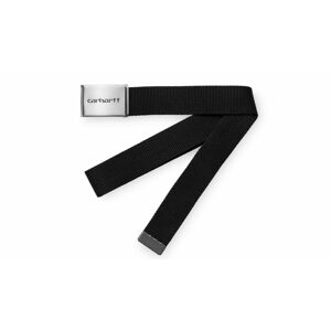 Carhartt WIP Clip Belt Chrome - Black černé I019176_8900