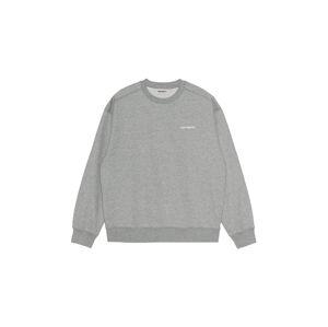 Carhartt WIP W Carhartt Script Sweatshirt Grey Heather šedé I025343_00D_XX