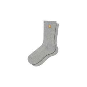 Carhartt WIP Chase Socks Grey Heather šedé I029421_00M_XX