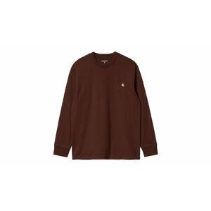 Carhartt WIP American Script T-Shirt L/S bordová I029955_0EG_XX