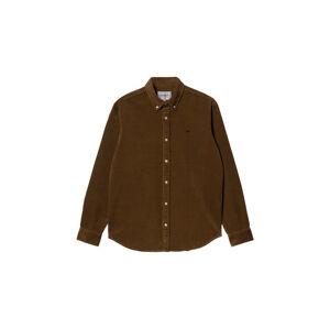 Carhartt WIP L/S Madison Cord Shirt Tawny / Black hnědé I029958_0JA_XX