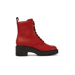 Camper Milah Lace-Up Red Boots červené K400577-004