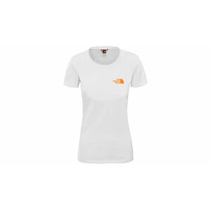 The North Face W Bf Redbox Tee Tnf White/Flame Orange bílé NF0A4M5QP9V