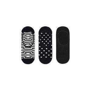 Happy Socks 3-Pack Optic Dot Liner Sock černé OPD18-9100