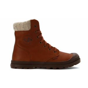 Palladium Pampa Hi Knit LP hnědé 95172-251