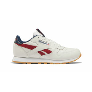 Reebok Classic Leather Chalk Power Red Navy bílé DV9550