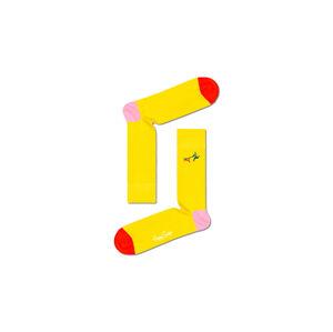 Happy Socks Ribbed Embrodiery Run The Dog Sock žluté RERTD01-2400