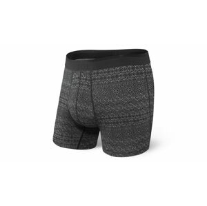 Saxx Platinum Boxer Brief Black Pattern Band černé SXBB42FPAB