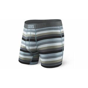Saxx Ultra Boxer Dark Charcoal Stripe šedé SXBB30FCBC
