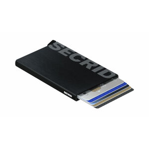 Secrid Cardprotector Laser Logo Brushed Black černé CLa-Logo-Brushed-Black