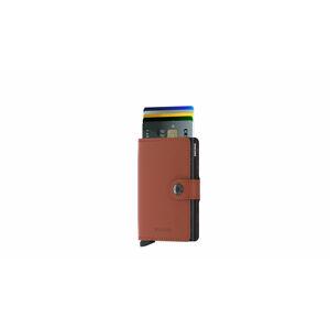 Secrid Miniwallet Matte Brick-Black hnědé MM-Brick-Black