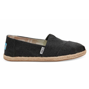 Toms Black Washed Canvas Alpargata černé 10009751
