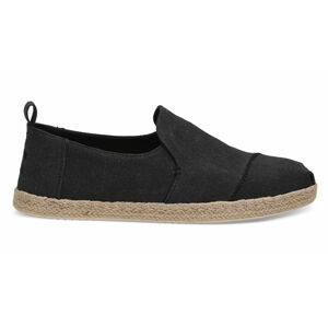 Toms Black Washed Canvas Alpargata černé 10011621