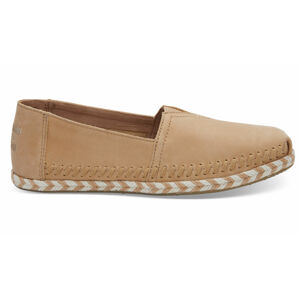 Toms Honey Leather Rope Alpargata hnědé 10011661