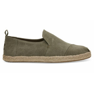 Toms Olive Washed Canvas Alpargata zelené 10011624