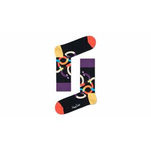 Happy Socks Wiener Dog černé WEI01-9000