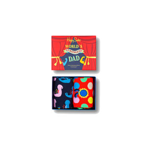 Happy Socks 2-Pack Father´S Day Socks Gift Set Multicolor XFAT02-0200